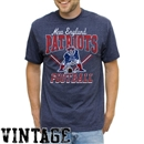 New England Patriots Junk Food Heather Navy Gridiron Tee (Adult Large)