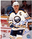 Pat LaFontaine Autographed Buffalo Sabres Throwback 8x10 Hockey Photo