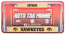 Rico Tag Iowa Hawkeyes Domed Chrome License Plate Frame