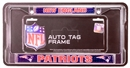 Rico Tag New England Patriots Domed Chrome License Plate Frame