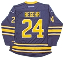Image for  Robyn Regehr Autographed Buffalo Sabres Blue Hockey Jersey
