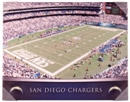 San Diego Chargers Artissimo Gradient Qualcomm Stadium 22x28 Canvas
