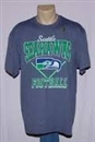 Seattle Seahawks Junk Food Denim Heather Gridiron Tee (Adult Small)