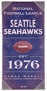 Seattle Seahawks Vintage Sign 10x22 Artissimo - Regular Price $39.99 !!!