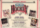 1991/92 Upper Deck English Low # Hockey Jumbo Box