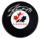 Image for  Steven Stamkos Autographed Team Canada Hockey Puck