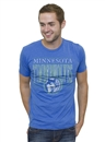 Minnesota Timberwolves Junk Food Heathered Blue Vintage Tee (Adult Medium)