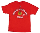 Chicago Blackhawks Reebok Red Toews #19 T-Shirt (Size Large)