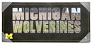 Artissimo Michigan Wolverines Wordmark Team Pride 12x26 Canvas