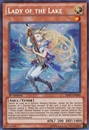 Yu-Gi-Oh Shadow Specters 1st Edition Single Lady of the Lake Secret Rare - NEAR MINT