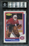 1986/87 O-Pee-Chee Patrick Roy (BLANK BACK!) Rookie Card BVG 9 *0452