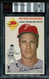 1954 Topps Baseball #45 Richie Ashburn BVG 9 (MINT) *6973
