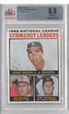 1964 Topps Baseball #5 Sandy Koufax NL Strikeout Leaders BVG 8.5 (NM-MT+) *2545