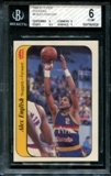 1986/87 Fleer Basketball Sticker #4 Alex English BGS 6 (EX-MT) *5026