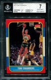 1986/87 Fleer Basketball #15 Tom Chambers PSA 7 (NM) *8003