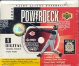 2000 Upper Deck Power Deck Baseball Hobby Box