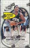 2000/01 Press Pass Signature Basketball Hobby Box