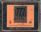 2000/01 Topps Reserve Basketball Hobby Box