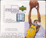 2000/01 Upper Deck Pros & Prospects Basketball Hobby Box