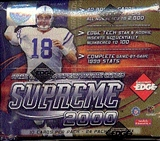 2000 Collector's Edge Supreme Football Hobby Box