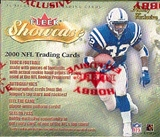 2000 Fleer Showcase Football Hobby Box