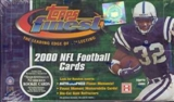 2000 Topps Finest Football Hobby Box