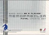 2000/01 Be A Player Memorabilia Final Update Hockey Factory Set
