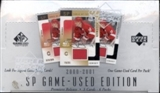 2000/01 Upper Deck SP Game Used Hockey Hobby Box