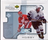 2000/01 Upper Deck Pros & Prospects Hockey Hobby Box