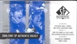 2000/01 Upper Deck SP Authentic Hockey Hobby Box