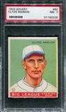 1933 Goudey Baseball #80 Clyde Manion PSA 7 (NM) *2028