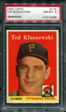 1958 Topps Baseball #178 Ted Kluszewski PSA 8 (NM-MT) *6288
