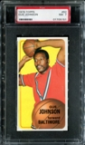 1970/71 Topps Basketball #92 Gus Johnson PSA 7 (NM) *5151