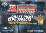 2001 Bowman Draft Picks & Prospects Baseball Factory Set (Box)