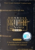 2001 Donruss Signature Series Baseball Hobby Box