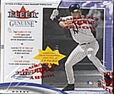 2001 Fleer Genuine Baseball Hobby Box
