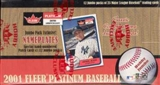 2001 Fleer Platinum Baseball Jumbo Box