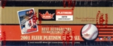 2001 Fleer Platinum Baseball Rack Box (one autograph per rack!)