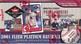 2001 Fleer Platinum Rookie Collection Baseball Jumbo Box