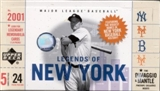 2001 Upper Deck Legends Of New York Baseball Hobby Box