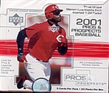 2001 Upper Deck Pros & Prospects Baseball Hobby Box