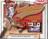 2001/02 Fleer Authentix Basketball Hobby Box