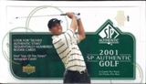 2001 Upper Deck SP Authentic Golf Hobby Box