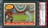 1959 Topps Baseball #461 Mickey Mantle Hits 42nd Homer For Crown PSA 8 (NM-MT) *8433