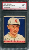 1933 Goudey Baseball #101 Richard Coffman PSA 7 (NM) *5746