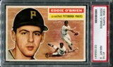 1956 Topps Baseball #116 Eddie O'Brien PSA 8 (NM-MT) *5641