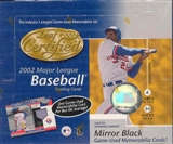 2002 Leaf Certified Materials Baseball 24 Pack Box