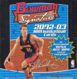 2002/03 Bowman Signature Edition Basketball Hobby Box