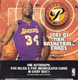 2002/03 Topps Pristine Basketball Hobby Box