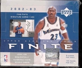 2002/03 Upper Deck Finite Basketball Hobby Box